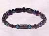 Single Strand Irridescent Bracelet with turquoise beads